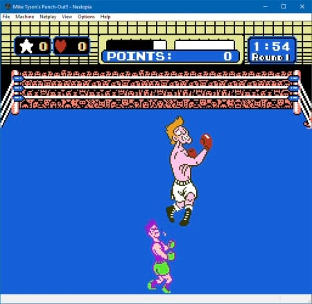 Mike Tysons Punch Out!! on Nestopia UE